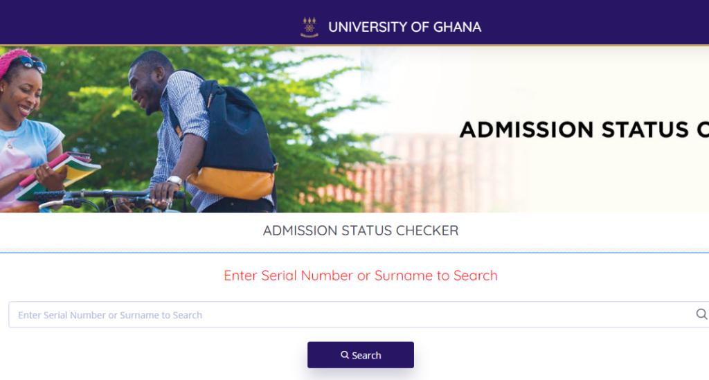 University of Ghana Admission Status