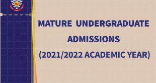 Mature Undergraduate Admissions - 2021/2022 Academic Year